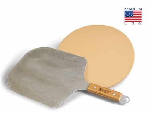KPK-SP - KettlePizza Metal Pro Pizza Peel and Cordierite Stone Kit