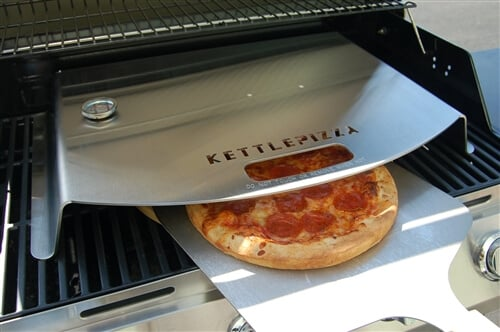 KettlePizza Gas Pro Deluxe Kit - Includes Gas Pro, Thermometer, Wooden Peel and Stone - KPD-GP