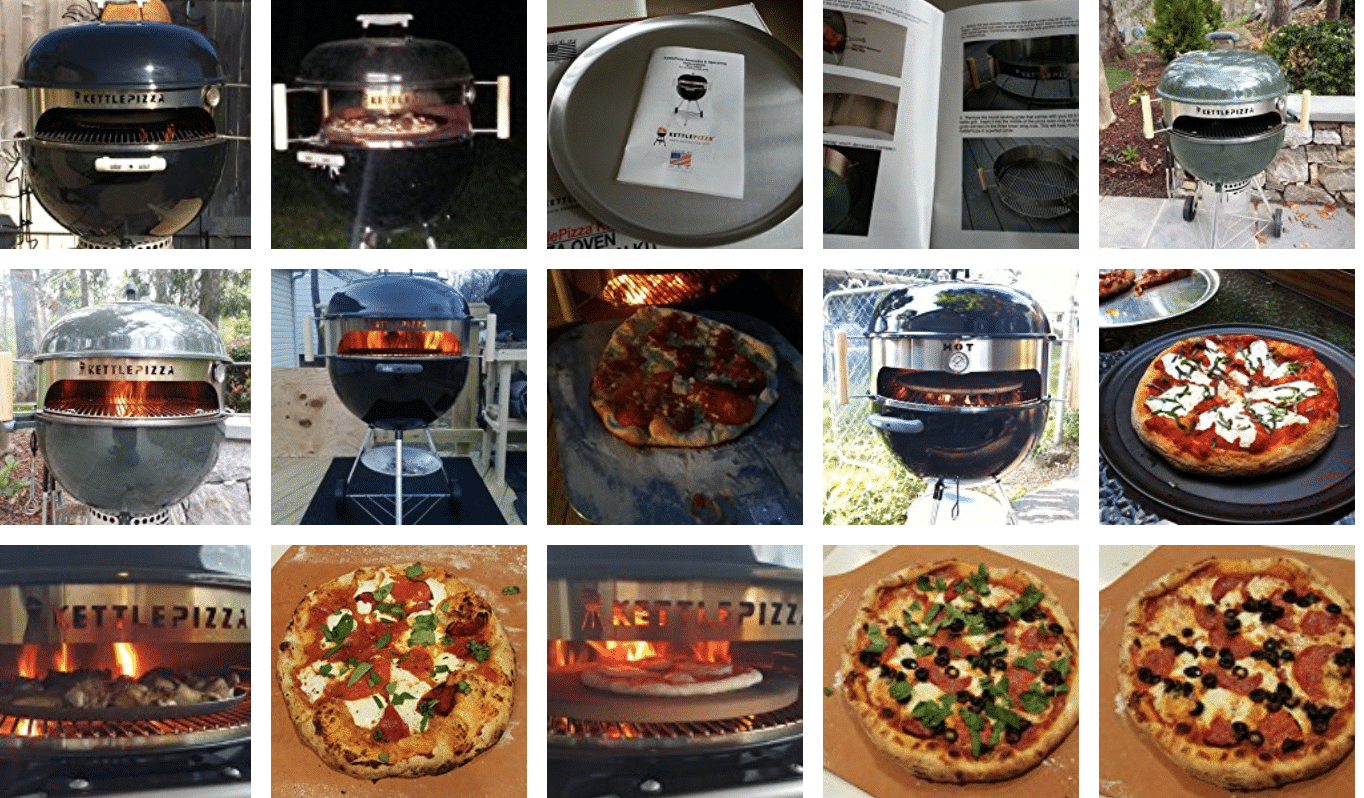 KettlePizza Customer Collage