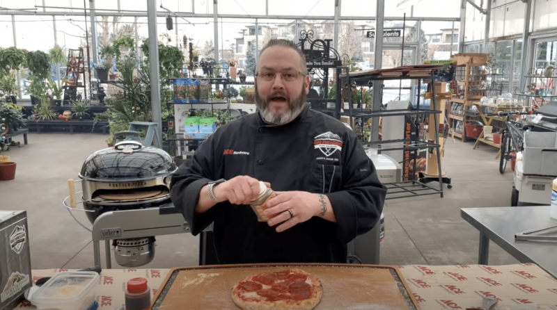 Chef Jason Cooks His First Pizza in the KettlePizza Outdoor Pizza Oven and Weber Performer Charcoal Grill